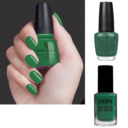 Green Polish Gossip Girl Nails Going Green