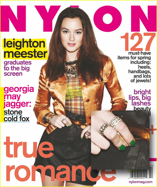 leighton nylon nail Gossip Girl Nails Going Green