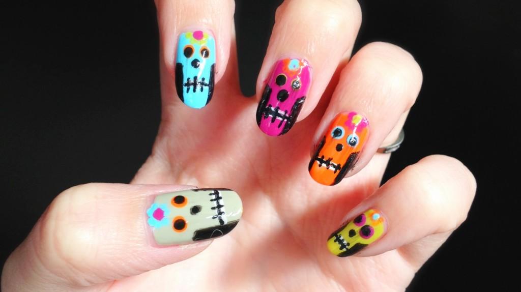 IMG 2513 1024x574 Nail DIY: Sugar Skulls